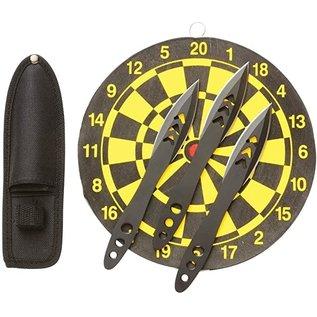 Rampage Throwing Knife Set with Target
