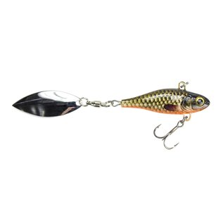 """Lunkerhunt Lunkerhunt 2"""" Hatch Spin Lipless Crankbait with Spinner Tail"""