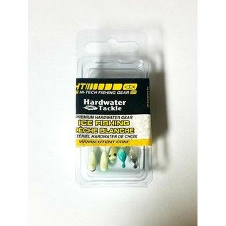 HT Hardwater Micro Jig, Glow Asst #10, 5 Pk