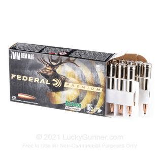 Federal Federal Premium 7MM Rem Mag, 150 gr Sierra Gameking BTSP, 3110 fps, 20 rnds