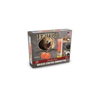 Lightfield Lightfield Double Ball Rubber Slugs 20 GA, 2-3/4 in, 900 fps, 5 rnds