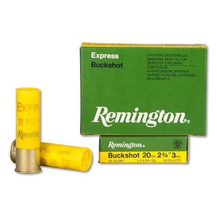 "Remington Remington 20ga, 2.75"", #3 Buck, 20 Pellets, 5 rnds"