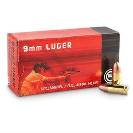 Geco Geco 9mm, 124 gr FMJ, 50 rnds