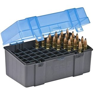 Plano Plano Ammo Box50 rnd 22-250,30-30, Clear Blue