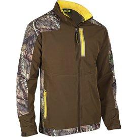 Mens Windproof Softshell Camo Jacket Medium