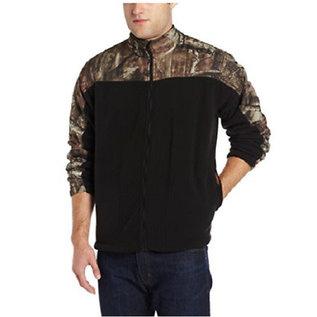 Yukon Gear Fleece Black/Camo Jacket Medium