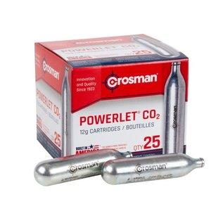 crosman Crosman Co2 Powerlet Cartridges, 12-gram