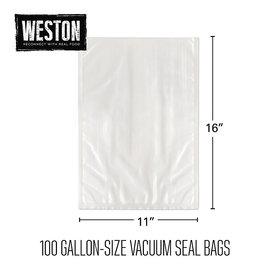 "Weston Weston Vacuum Sealer Bags, 11"" x 16"" (Gallon), 42 Count"