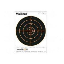 "Champion Visishot 100 yd Sight-In Target, 8"" Bullseye, 8.5""x11"", 10Pk"
