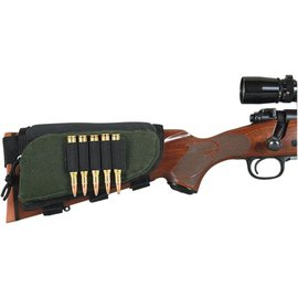 Allen Adjustable Rifle Buttstock Shell Holder, 5 Loops, Zippered Pouch
