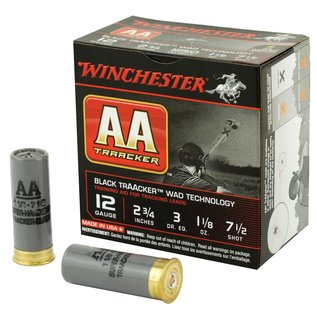 "Winchester 12 ga Lead  -  Winchester AA TrAAcker 2.75"", #7.5"