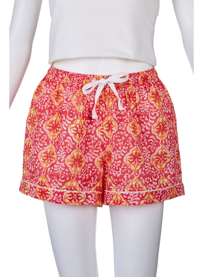 Orange Pink Sleep Shorts LG