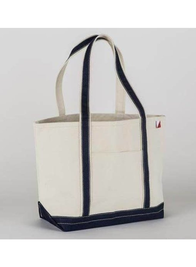 Classic Boat Tote, Medium Navy