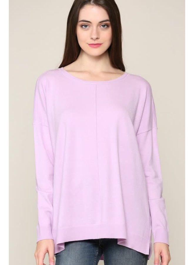 Drop Shoulder Sweater Lavender SM