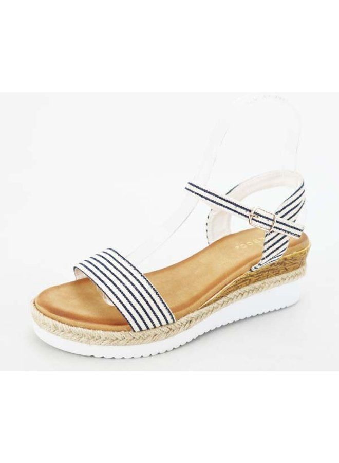 Navy Stripe Daily Sandal