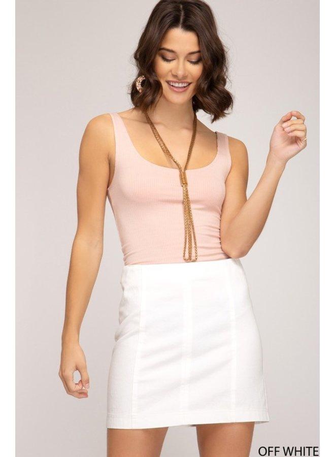 Woven Mini Skirt Off Wt