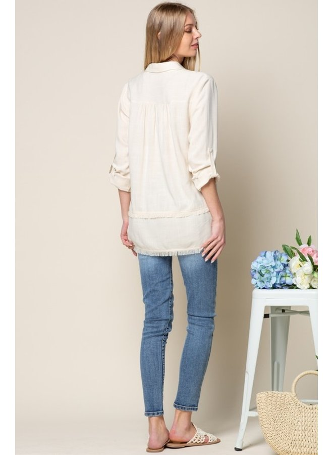 Linen Button Down Shirt Natural