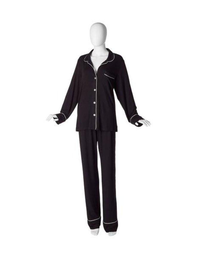 Bonne Nuit Pajama Set Black