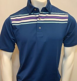 FOOT JOY FOOTJOY LISLE CHEST STRIPE POLO