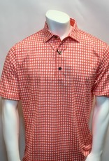 FOOT JOY FOOTJOY GINGHAM FRAY PRINT POLO