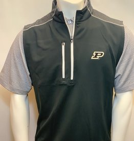 FOOT JOY FOOTJOY QUARTER ZIP HEATHER BLOCKED VEST