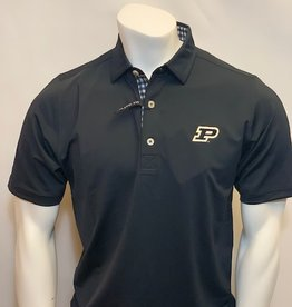 FOOT JOY FOOTJOY ATHLETIC FIT SOLID GINGHAM TRIM POLO