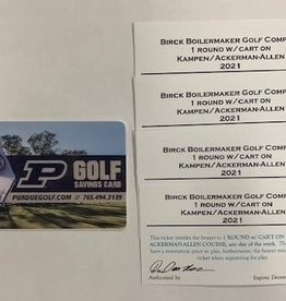 PURDUE GOLF SAVINGS CARD + 4 ROUNDS WITH CART