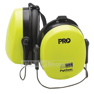 Pro Choice Pro Choice EMPYTNB Python Slim Line Neck Band Hi-Vis Yellow Earmuffs
