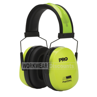 Pro Choice Pro Choice EMPYTS Python Slim Line Hi-Vis Yellow Earmuffs