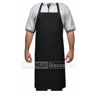 DNC DNC 2512 Poly Cotton Full Bib Apron No Pocket