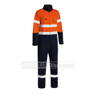 Bisley Bisley BC8186T TenCate Tecasafe Plus Two Tone Hi-Vis Taped Lightweight Engineered Non-Vented FR Coverall