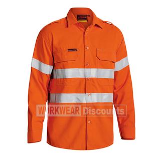 Bisley Bisley BS8081T TenCate Tecasafe Plus Hi-Vis Taped Vented FR Shirt