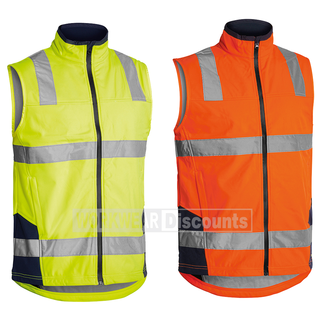 Bisley Bisley BV0348T Hi-Vis Taped Soft Shell Vest