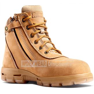 "Redback Redback UCWZ Cobar 6"" Lace Up Zip Nubuck Soft Toe Boots"