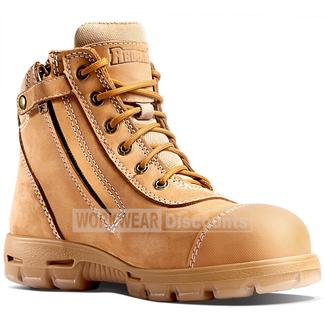 "Redback Redback USCWZS Cobar 6"" Lace Up Zip Scuff Cap Nubuck Safety Boots"