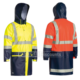 Bisley Bisley BJ6935HT Hi-Vis Taped Stretch PU Rain Coat