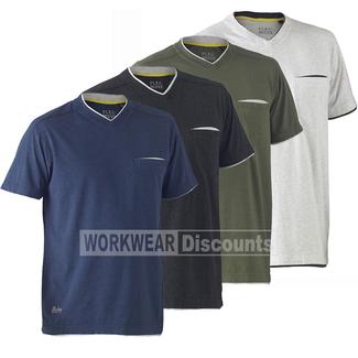 Bisley Bisley BK1933 Flex & Move™ Cotton Rich V Neck Short Sleeve Tee