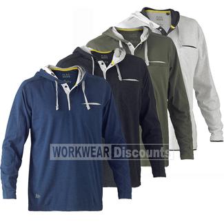 Bisley Bisley BK6220 Flex & Move™ Cotton Rich Hoodie Long Sleeve Tee