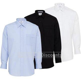 Van Heusen Van Heusen A101 Mens Poly Cotton Easy Care Poplin Classic Fit Shirt