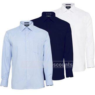 Van Heusen Van Heusen E148 Mens Cotton Polyester Mini Herringbone European Fit Shirt
