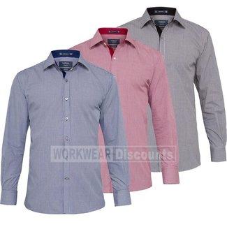 Van Heusen Van Heusen E161 Yarn Dyed Check European Fit Shirt Long Sleeve