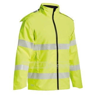 Bisley Bisley BJ6927T Hi-Vis Taped Lightweight Ripstop Rain Jacket
