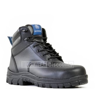 Bata Bata Saturn Lace Up Steel Cap Boots Black