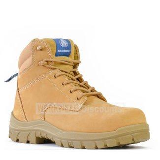 Bata Bata Titan Lace Up Steel Cap Boots Wheat
