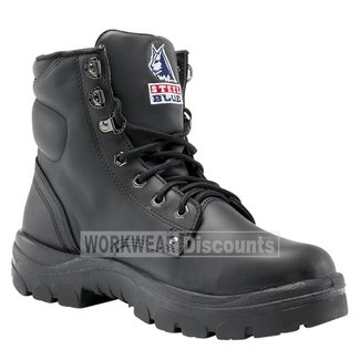 Steel Blue Steel Blue Argyle Lace Up Soft Toe TPU Sole Boots Black