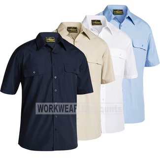 Bisley Bisley BS1526 Permanent Press Shirt Short Sleeve
