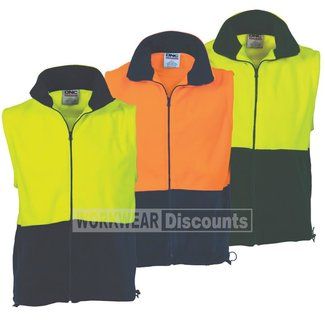 DNC DNC 3828 Hi-Vis Full Zip Polar Fleece Vest