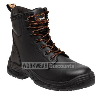 King Gee King Gee K27180 Blaze Lace Up Steel Cap Boots Black