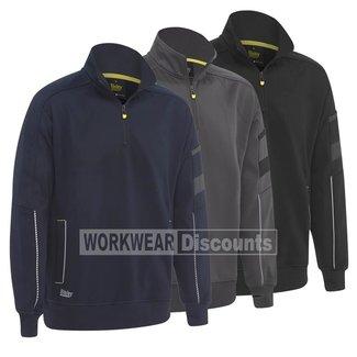 Bisley Bisley BK6924 Quarter Zip Work Fleece Pullover