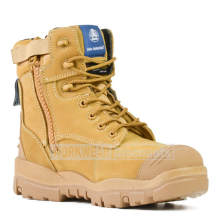 Bata Bata Longreach Lace Up Steel Cap Boot Wheat